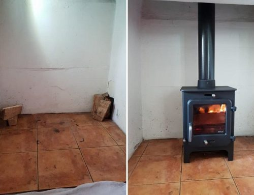 Before & After Stove Installation