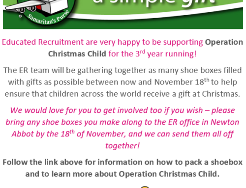 Operation Christmas Child with Educated Recruitment